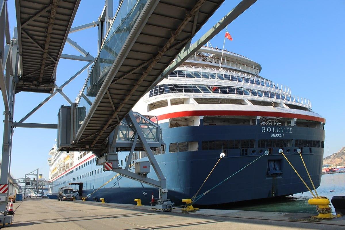 """El puerto de Barcelona recibió el 12 de octubre la escala simultánea de los cruceros: """"Bolette"""", """"Costa Diadema"""", """"Viking Jupiter"""", """"Club Med 2"""" y """"Mein Schiff 3"""