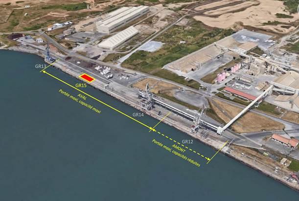 Situación de la GR15 en el puerto de Baiona