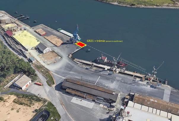 Situación de la GR21 en el puerto de Baiona