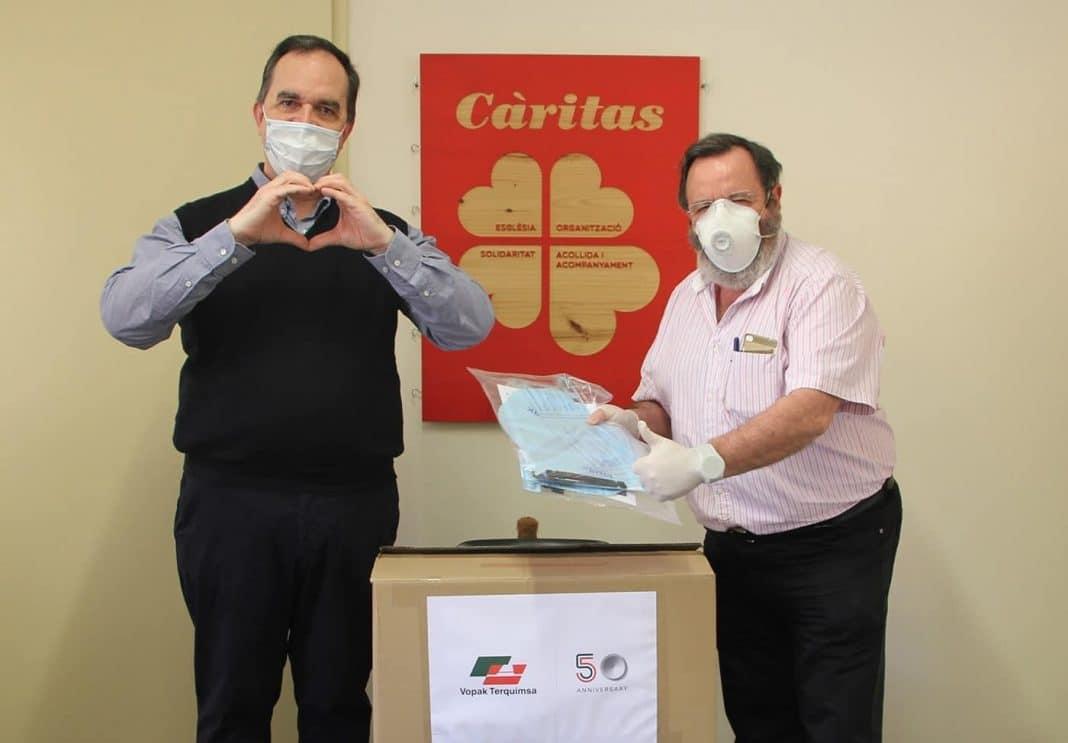 Donación Vopak Terquimsa Caritas Tarragona min