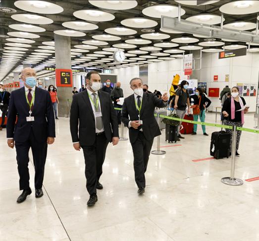 abalos visita aeropuerto madrid