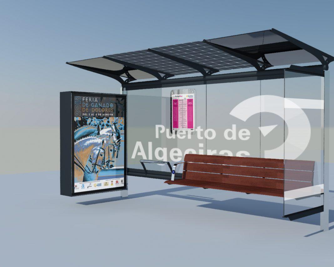 Marquesina modelo Algeciras 3D