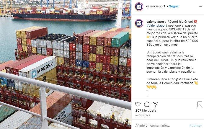 puerto de valencia redes sociales