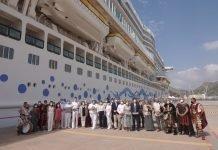 Cartagena, puerto y ciudad, homenajean al primer crucero internacional post-pandemia