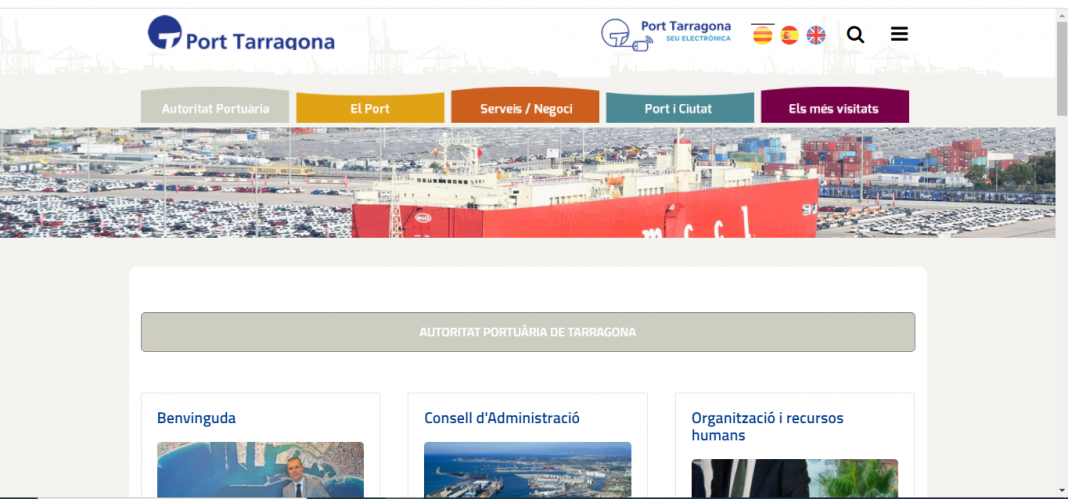 web del puerto de Tarragona